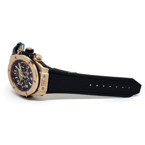 Hublot Big Bang Unico 18K Rose Gold Rubber Automatic Chronograph Men`s Watch, 411.OX.1180.RX 6