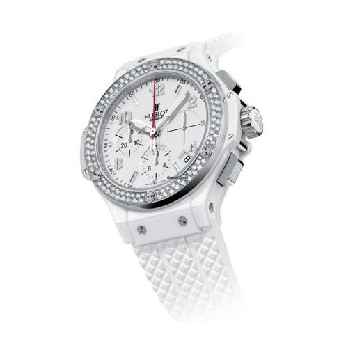 Hublot Big Bang 41mm Steel Diamonds Rubber White Ladies Watch, 342.SE.230.RW.114 2