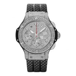 Hublot Big Bang 41mm Steel Full Pave Stainless Steel Diamonds Unisex Watch 341.SX.9010.RX.1704