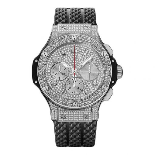 Hublot Big Bang 41mm Steel Full Pave Stainless Steel  Diamonds Unisex Watch, 341.SX.9010.RX.1704