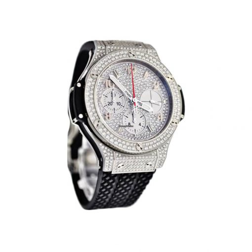 Hublot Big Bang 41mm Steel Full Pave Stainless Steel  Diamonds Unisex Watch, 341.SX.9010.RX.1704 3