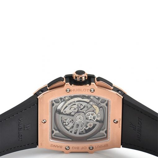 Hublot Spirit of Big Bang 45mm Chronograph Ceramic 18K King Gold Leather Men's Watch, 601.OM.0183.LR 2