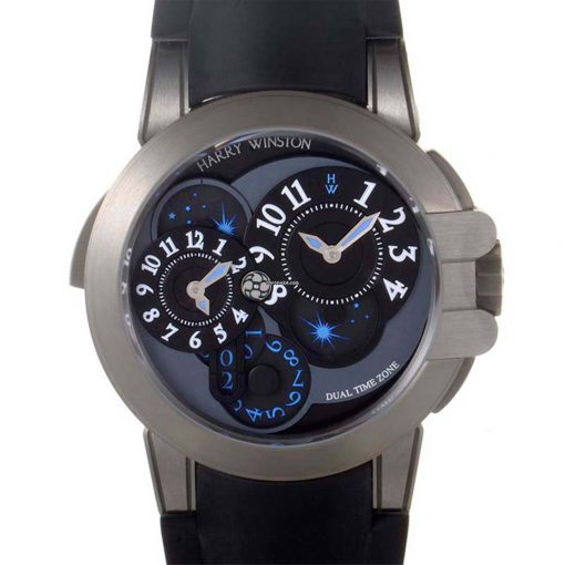 Harry Winston: Project Z4 Ocean Dual Time Limited Edition Men`s Watch, preowned.410/MATZ44ZC.W