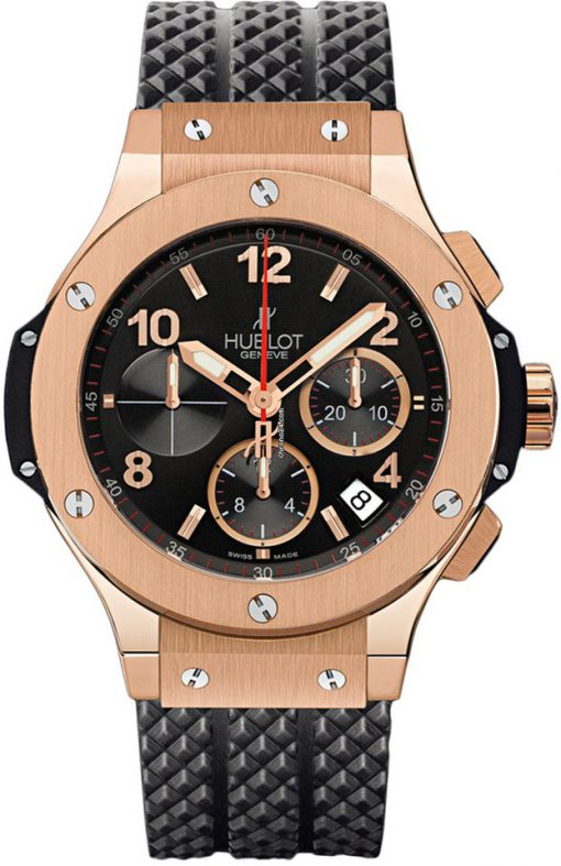 Hublot Big Bang 44 Chronograph Rose Gold Rubber Men's Watch, 301.PX.130.RX