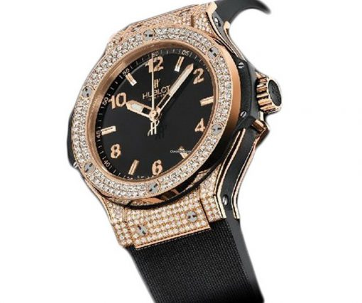 Hublot  Big Bang 38mm 18K Rose Gold Black Rubber Ladies Watch, 361.PX.1280.RX.1704 2
