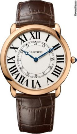 Cartier Ronde Louis 18K Pink Gold Men's Watch W6801004