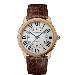 Cartier Ronde Solo 18K Pink Gold & Stainless Steel Men's Watch W6701009