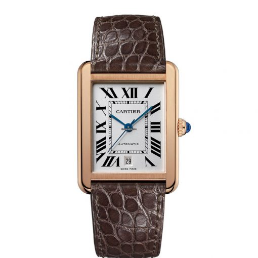 Cartier Tank Solo 18K Rose Gold Men's Watch, W5200026