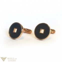 Salvini Rose Gold Cufflinks with Onyx and Diamonds, 20026850 20026850
