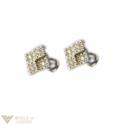 Salvini 18K White Gold Diamonds Luxury Earrings 20010135