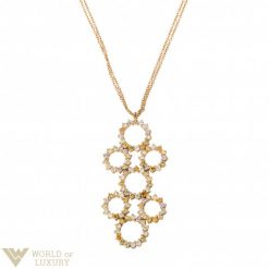 Damiani Charming Yellow Gold Pendant with Multicolor Diamonds, 81017782 81017782
