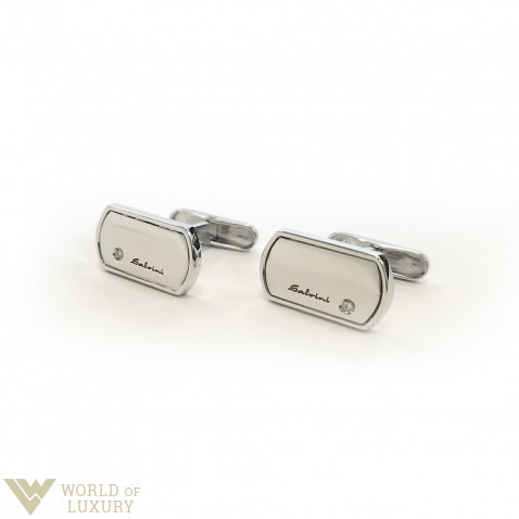 Salvini Prometeo 18k White Gold Diamonds Men's Cufflinks, 20025922
