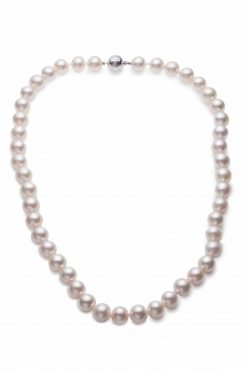 Mikimoto Pearl Chocker Necklace with 18K White Gold, ANK111TV13 ANK111TV13