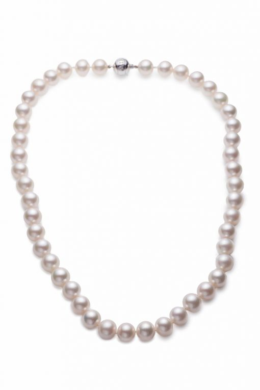 Mikimoto Pearl Chocker Necklace with 18K White Gold, ANK111TV13