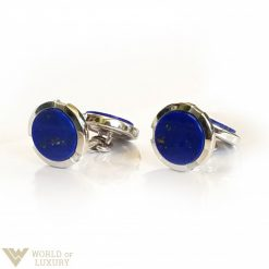 Damiani Lapis Lazuli 18k White Gold Men's Cufflinks, 20000743 20000743