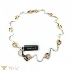 Damiani Brezza Choker  18k White and Rose Gold Diamonds Ladies Necklace, 20022975 20022975