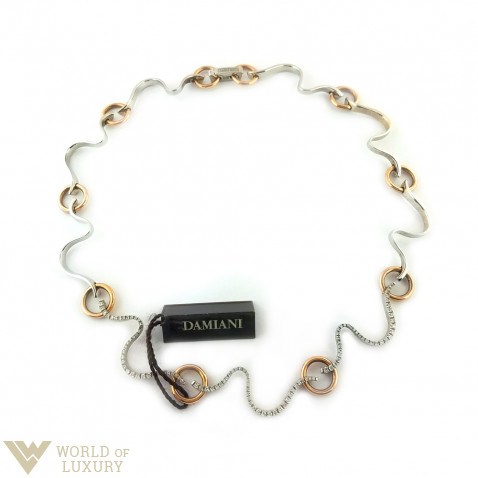Damiani Brezza Choker  18k White and Rose Gold Diamonds Ladies Necklace, 20022975