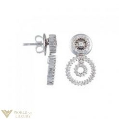 Damiani  Drops 18k White Gold Diamonds Ladies Earrings, 20018631 20018631