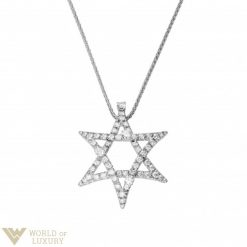 Damiani 18K White Gold Diamonds Stella Pendant 20010527