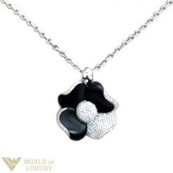 Valente Milano 18k White Gold Diamonds Onyx Ladies Pendant, 360618 360618