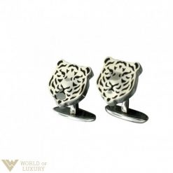 Carrera y Carrera Tiger 18k White Gold Men's Cufflinks, DA10883 DA10883