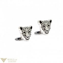 Carrera y Carrera Leopard 18k White Gold Men's Cufflinks, DA10885 DA10885