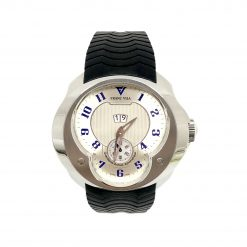 Franc Vila Esprit Unique Stainless Steel Rubber Men's Watch, 8Q.DHES.SLVR.RHH 8Q.DHES.SLVR.RHH