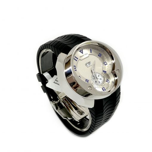 Franc Vila Esprit Unique Stainless Steel Rubber Men's Watch, 8Q.DHES.SLVR.RHH 3