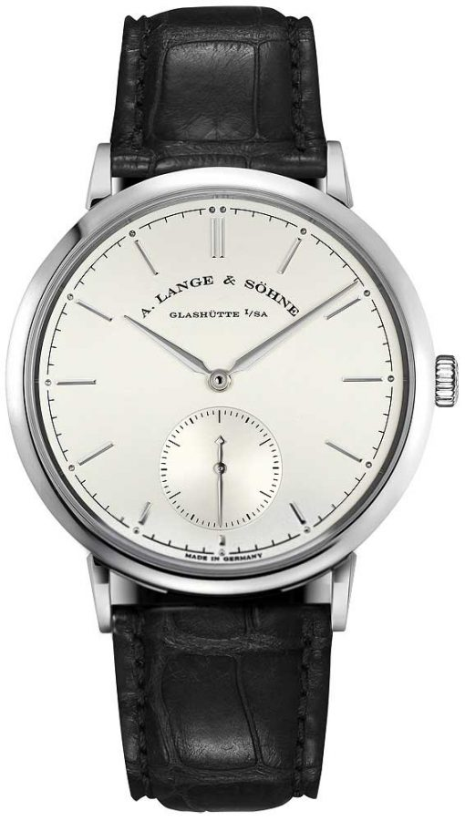 A. Lange and Sohne Saxonia Automatic White Gold Watch, 380.026