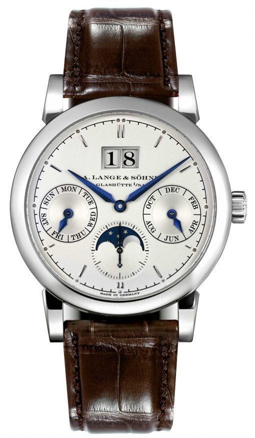 A. Lange and Sohne Saxonia Annual Calendar White Gold Men's Watch, 330.026