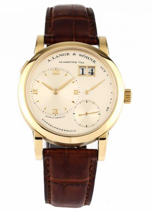 A. Lange and Sohne Lange Yellow Gold Watch, 101.021