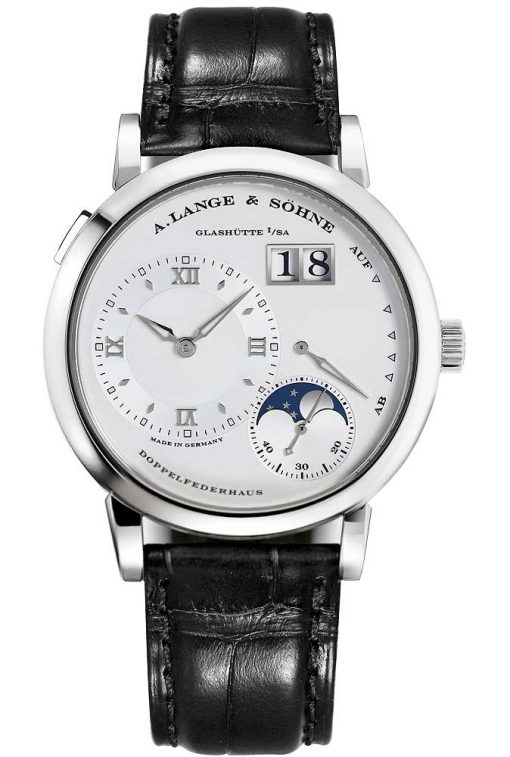 A. Lange and Sohne Lange Moonphase Platinum Men's Watch, preowned.109.025