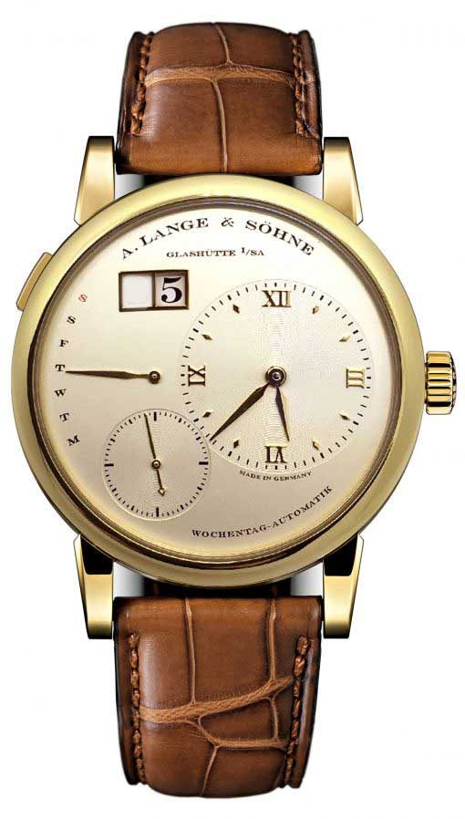 A. Lange and Sohne Lange 1 Daymaticn Yellow Gold Watch, 320.021