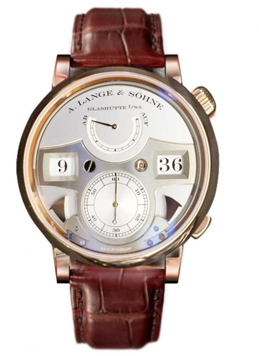 A Lange and Sohne Zeitwerk Striking Time Brown Leather Men's Watch, 145.032 2