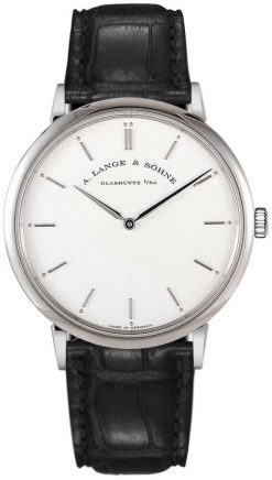 A Lange and Sohne Saxonia Thin Black Leather Men's Watch 211.026