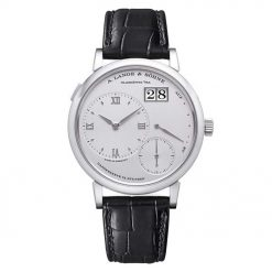 A Lange and Sohne Grand Lange 1 Platinum Black Leather Men's Watch 117.025