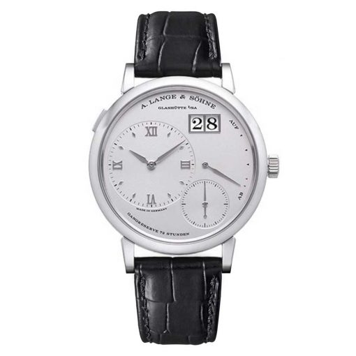 A Lange and Sohne Grand Lange 1 Platinum Black Leather  Men's Watch, 117.025