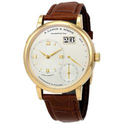 A Lange and Sohne Grand Lange 1 Brown Leather Men's Watch 117.021