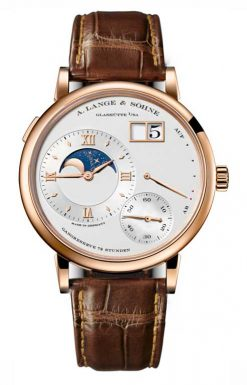 A Lange and Sohne Grand Lange 1 Moon Phase Brown Leather Men's Watch 139.032