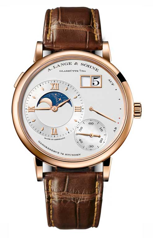 A Lange and Sohne Grand Lange 1 Moon Phase Brown Leather Men's Watch, 139.032