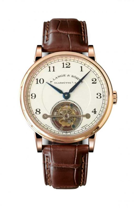 A Lange and Sohne 1815 Tourbillon Brown Leather Men's Watch, 730.032