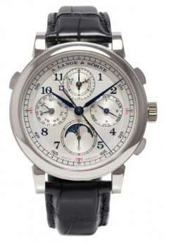 A Lange and Sohne 1815 Rattrapante Perpetual Calendar Platinum Men's Watch 421.025