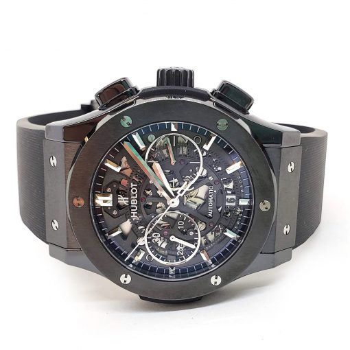 Hublot Classic Fusion Aero Chronograph Black Magic Ceramic Rubber Men's Watch, 525.CM.0170.RX 10
