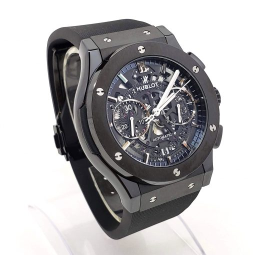 Hublot Classic Fusion Aero Chronograph Black Magic Ceramic Rubber Men's Watch, 525.CM.0170.RX 6