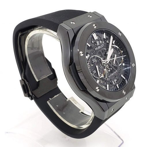 Hublot Classic Fusion Aero Chronograph Black Magic Ceramic Rubber Men's Watch, 525.CM.0170.RX 7