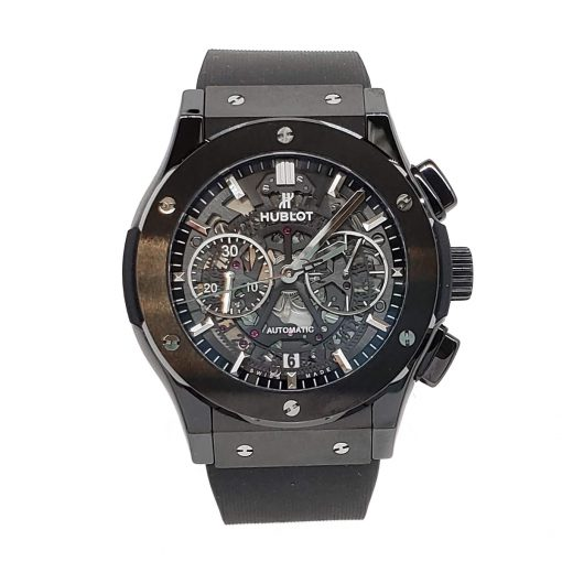 Hublot Classic Fusion Aero Chronograph Black Magic Ceramic Rubber Men's Watch, 525.CM.0170.RX 3