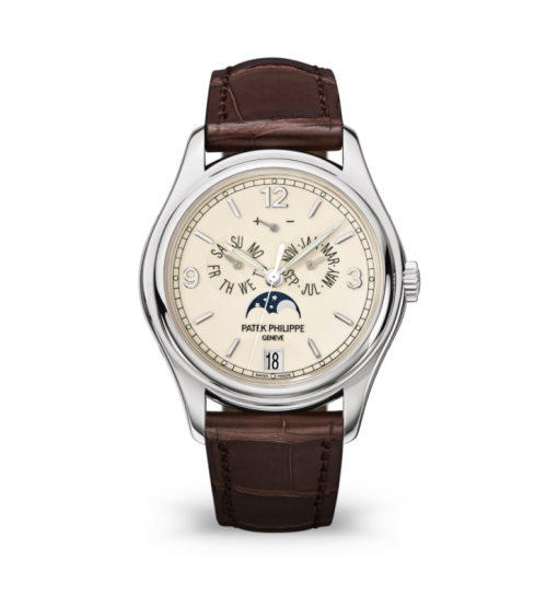 Patek Philippe Complicated Perpetual Calendar 18k White Gold Men's Watch, preowned-5146G-001
