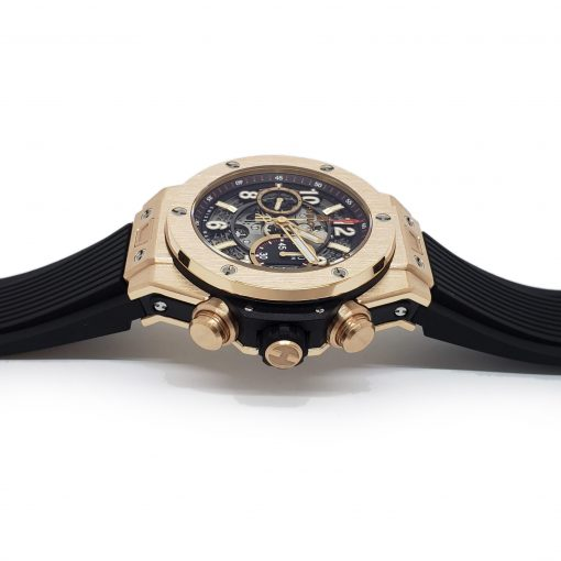 Hublot Big Bang Unico 18K Rose Gold Rubber Automatic Chronograph Men`s Watch, 411.OX.1180.RX 8