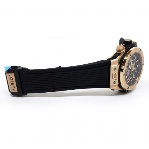 Hublot Big Bang Unico 18K Rose Gold Rubber Automatic Chronograph Men`s Watch, 411.OX.1180.RX 7