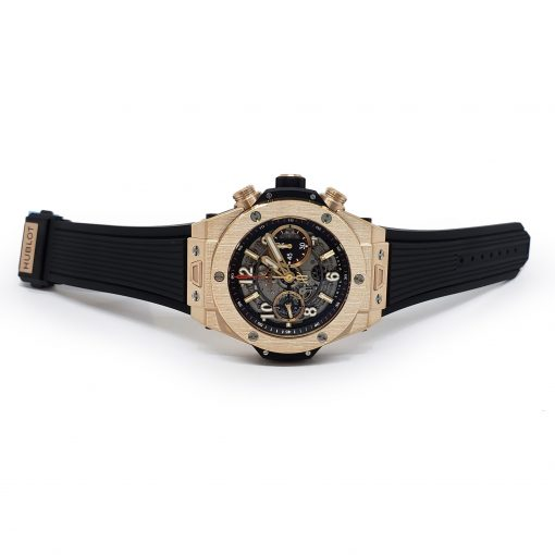 Hublot Big Bang Unico 18K Rose Gold Rubber Automatic Chronograph Men`s Watch, 411.OX.1180.RX 5